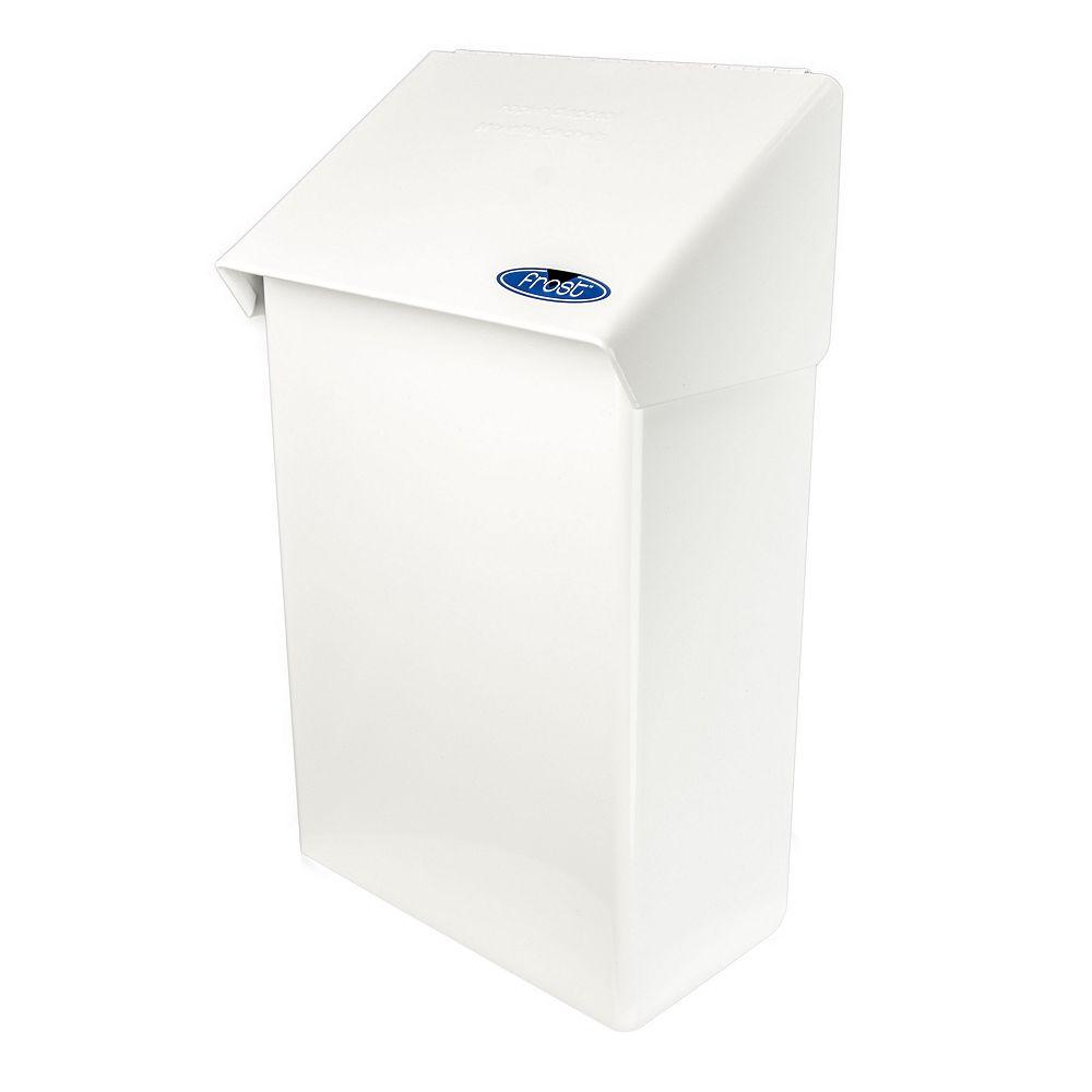 Frost Napkin Disposal, Steel, White Finish