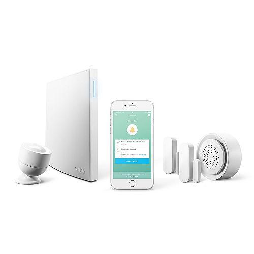 Kit de sécurité Lookout avec Smart Home Hub 2, capteur de mouvement, 2 capteurs pour portes et fenêtres et carillon