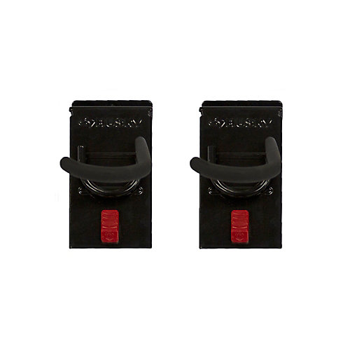 Track Wall Vertical Bike Hook (2-Pack), Black