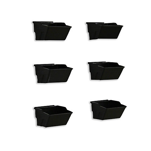 Track Wall Small Bin (6-Pack), Black