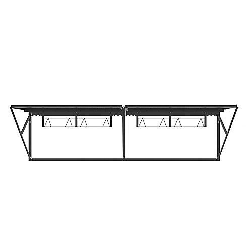 Heavy Duty Steel Wall Storage Rack, 96 Inch x 28 Inch, Black