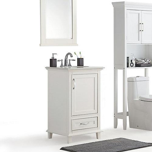 Ariana - Meuble-lavabo 20po avec dessus en marbre blanc de Bombay