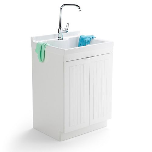 Murphy 24-inch Laundry Cabinet with Faucet and ABS Sink