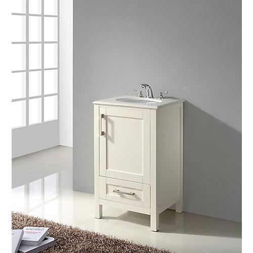 Westbridge 20-inch Bath Vanity with White Quartz Marble Top