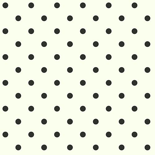 Joanna Gaines Magnolia Home 56 sq. ft Dots On Dots White Removable Wallpaper