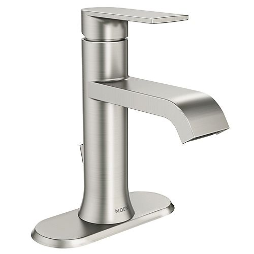 Genta Single Handle Bathroom Faucet in Spot Resist Brushed Nickel Finish