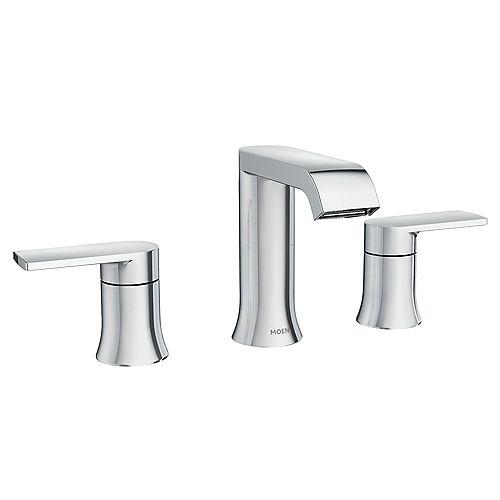 Genta 8-inch Widespread 2-Handle Bathroom Faucet in Chrome
