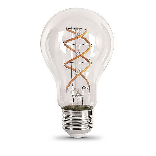 6.5-Watt Soft White (2150K) AT19 Dimmable LED Clear Vintage Style Light Bulb