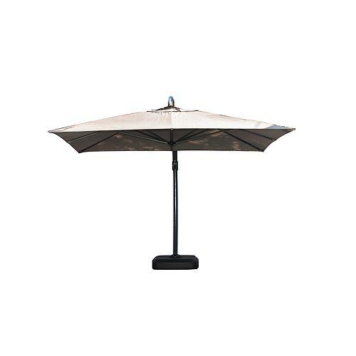 Coast 11.5 ft. Offset Umbrella in Taupe