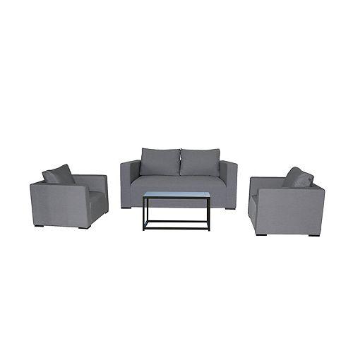 South Beach 4-Piece Aluminum Outdoor Lounge Set