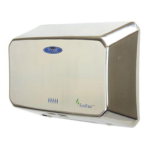 Sèche-mains compact à haute vitesse, mains libres à finition chromée