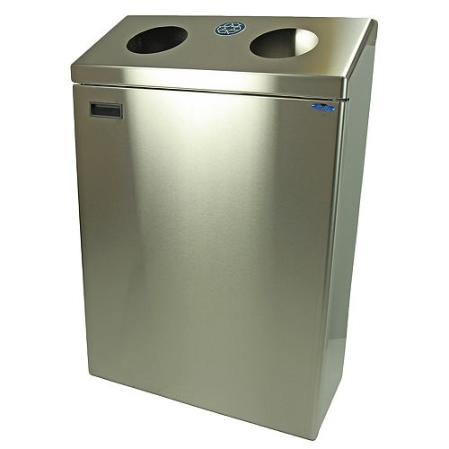 Frost Wall Mounted Recycling Station Stainless Steel