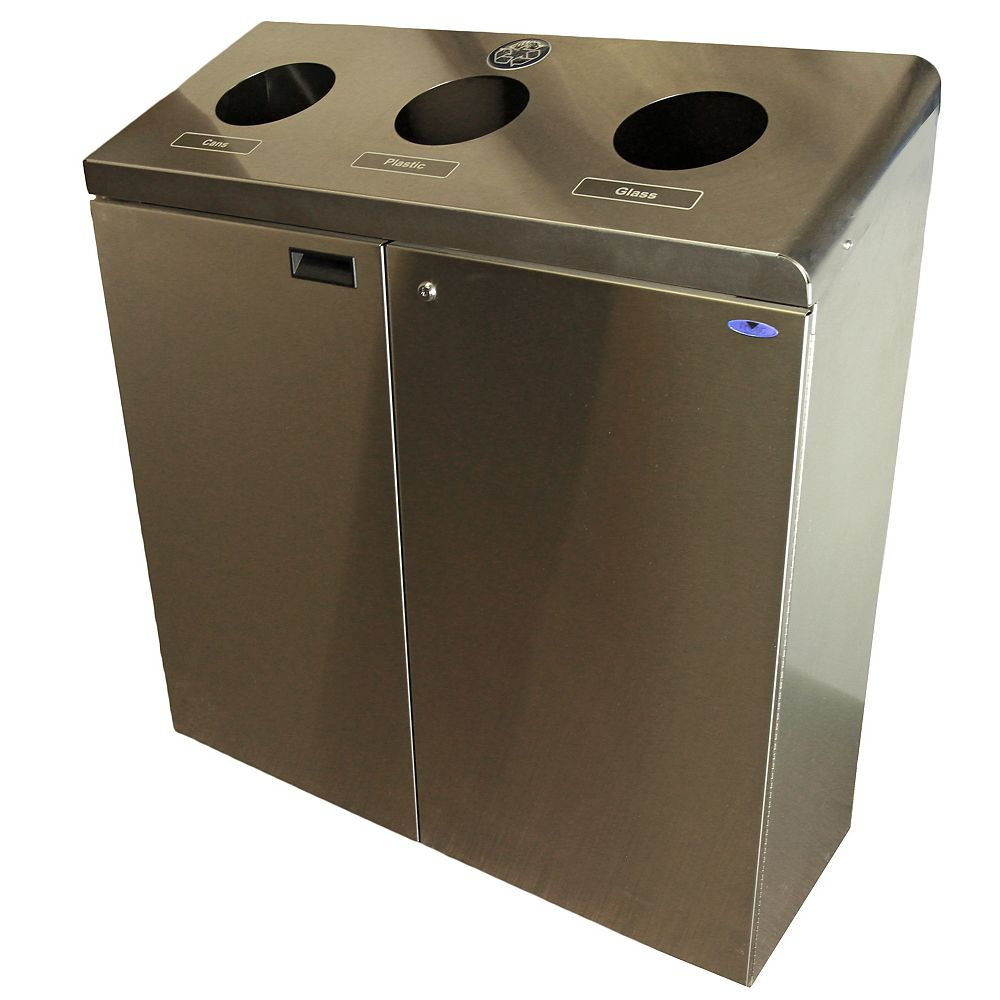 Frost Three Stream Recycling Station Stainless Steel