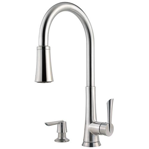 Mystique Kitchen Pull Down Faucet Faucet in Stainless Steel