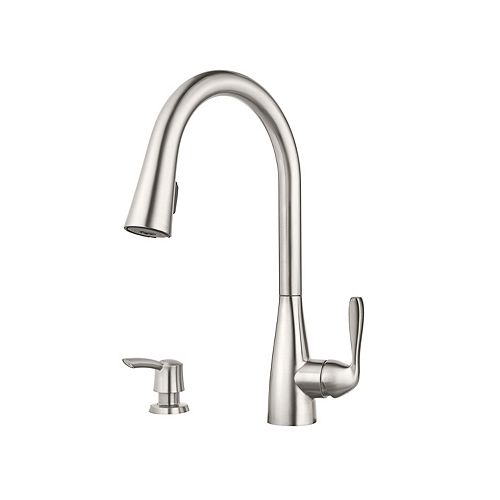 Lima Kitchen Pull Down Kitchen Faucet in Stainless Steel