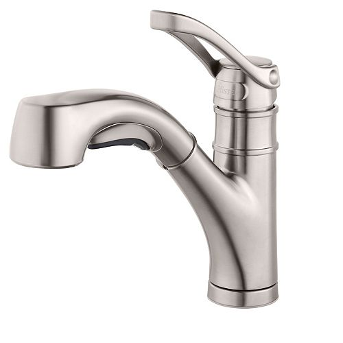Prive Kitchen Pull Out Faucet in Stainless Steel