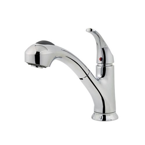Shelton Kitchen Pull Out Faucet in Polished Chrome
