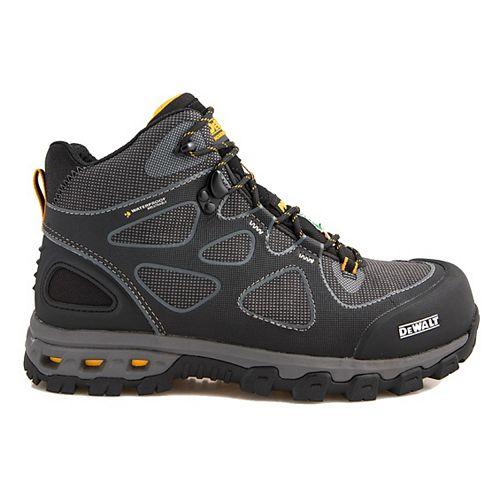 DEWALT Industrial Footwear Lithium Mid Men Size 12(M) Black/Yellow Aluminum Toe/ Composite Plate Waterproof Athletic Work Boot