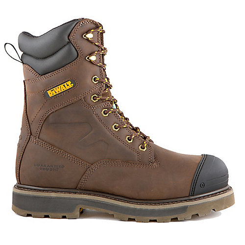Impact Men 8 in. Size 11(M) Dark Brown Leather Aluminum Toe/ Composite Plate Work Boot