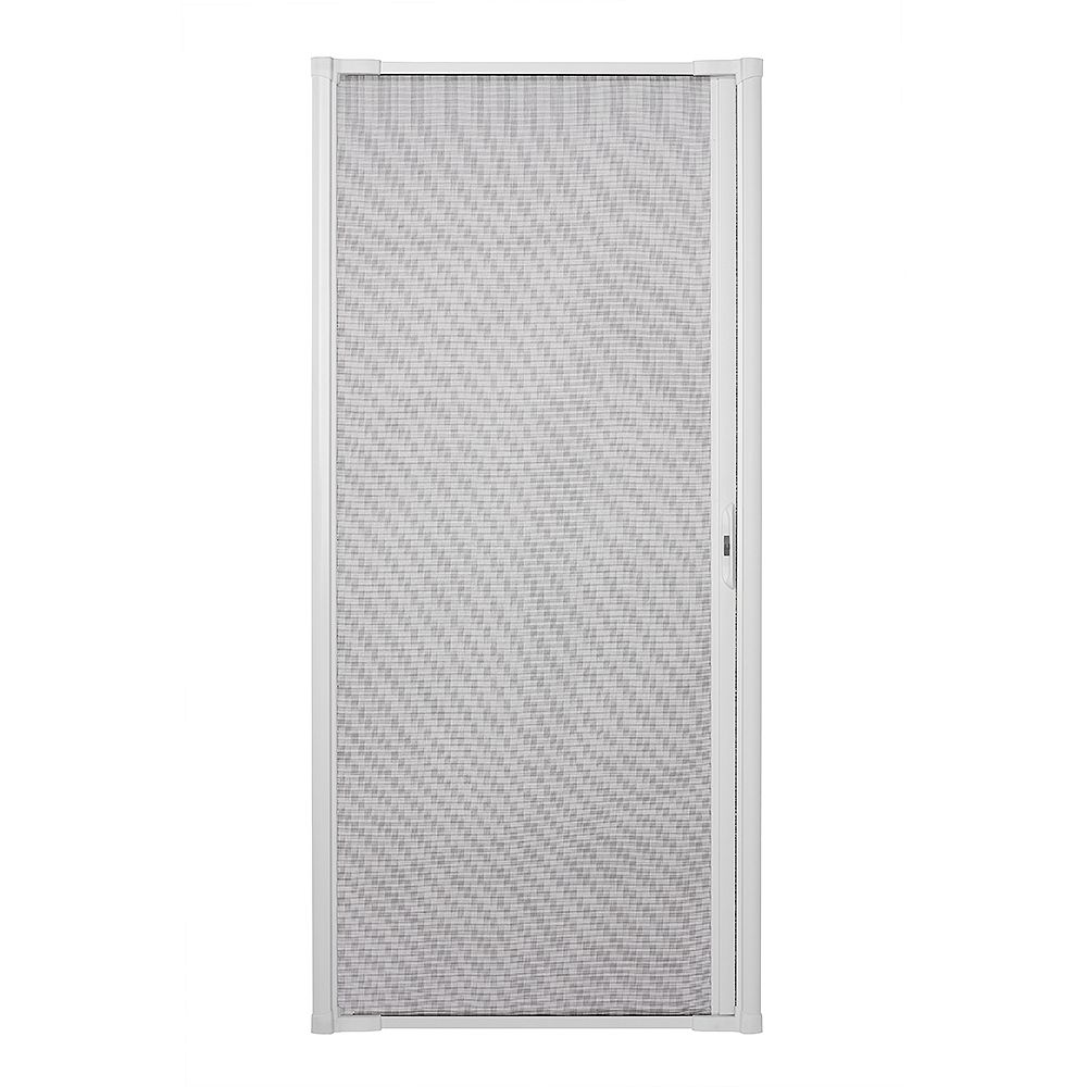 Andersen Luminaire Retractable Screen for Single Doors 32-inch to 36 inch Wide in White
