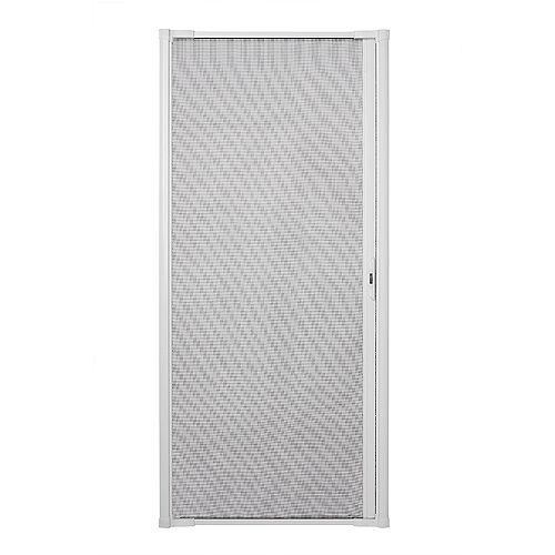 Luminaire Retractable Screen for Single Doors 32-inch to 36 inch Wide in White