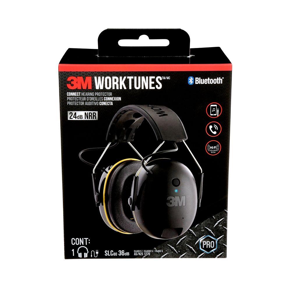 Worktunes Protecteur d'oreilles sans fil 90543H1-DC-PS Worktunes(MC) Connect 3M(MC) et technologie Bluetooth®