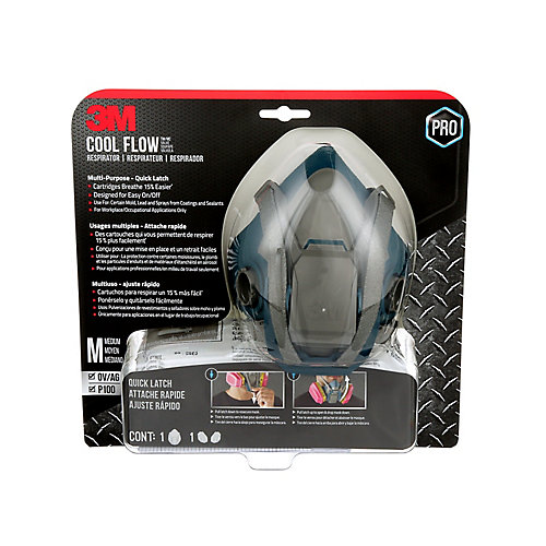 Cool Flow Multi-Purpose Respirator, 65023QLHA1C-PS, reusable, grey