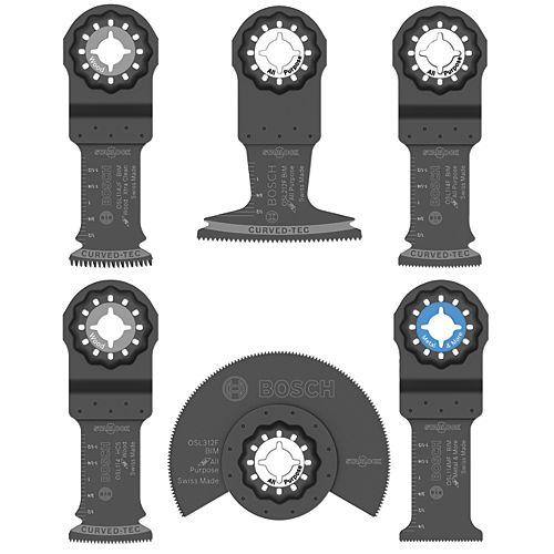 Ensemble de lames pour outil oscillant polyvalent Starlock, 6 pièces