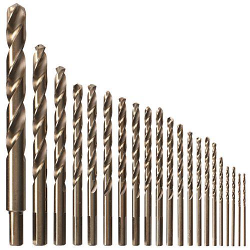 21-Piece Cobalt Metal Drill Bit Set