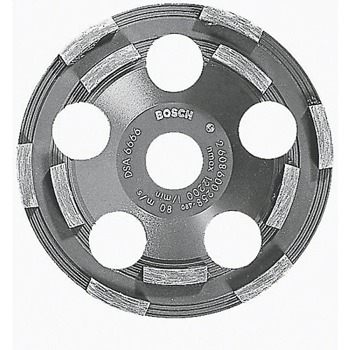 5-inch Double Row Segmented Diamond Cup Wheel for Coating Removal