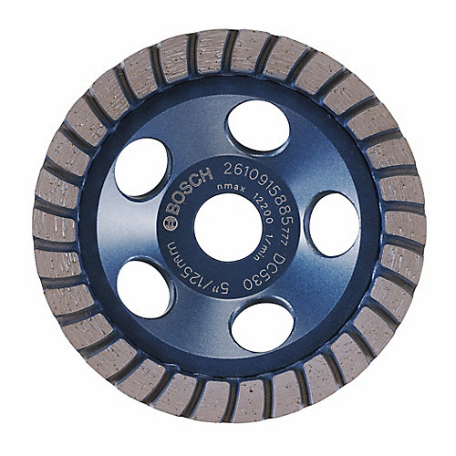 5-inch Turbo Row Diamond Cup Wheel for Finishing
