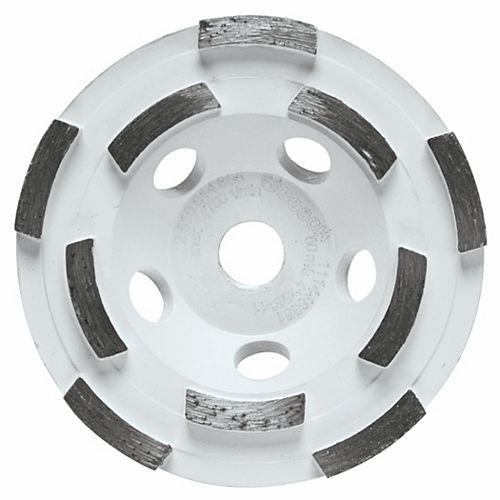 4-inch Double Row Segmented Diamond Cup Wheel