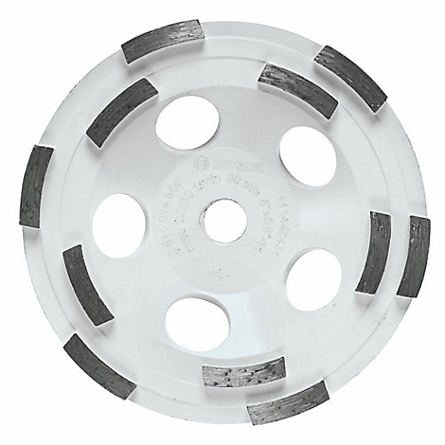 5-inch Double Row Segmented Diamond Cup Wheel