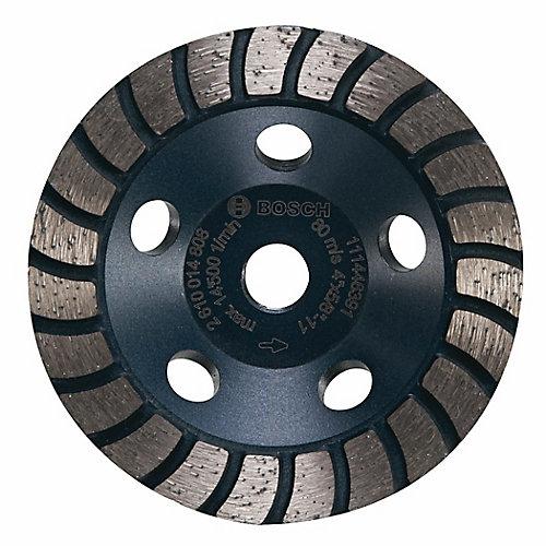 4-inch Turbo Row Diamond Cup Wheel