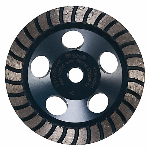 5-inch Turbo Row Diamond Cup Wheel
