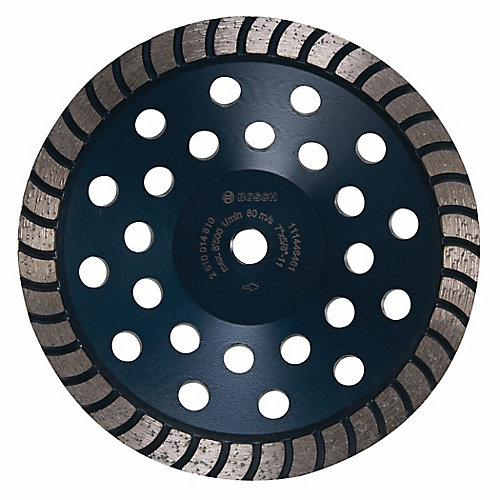 7-inch Turbo Row Diamond Cup Wheel
