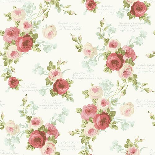 Joanna Gaines Magnolia Home 56 sq. ft Heirloom Rose Pink Removable Wallpaper