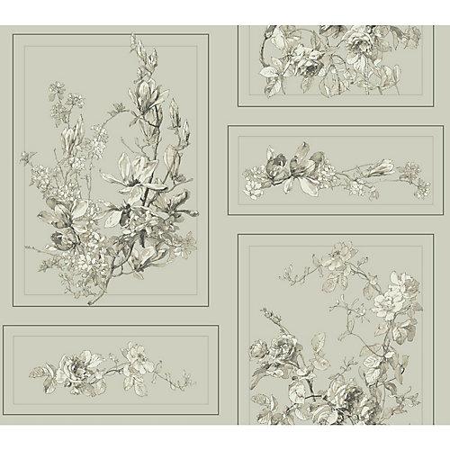 Magnolia Home Le Magnolia - Marron et Gris  Papier peint amovible