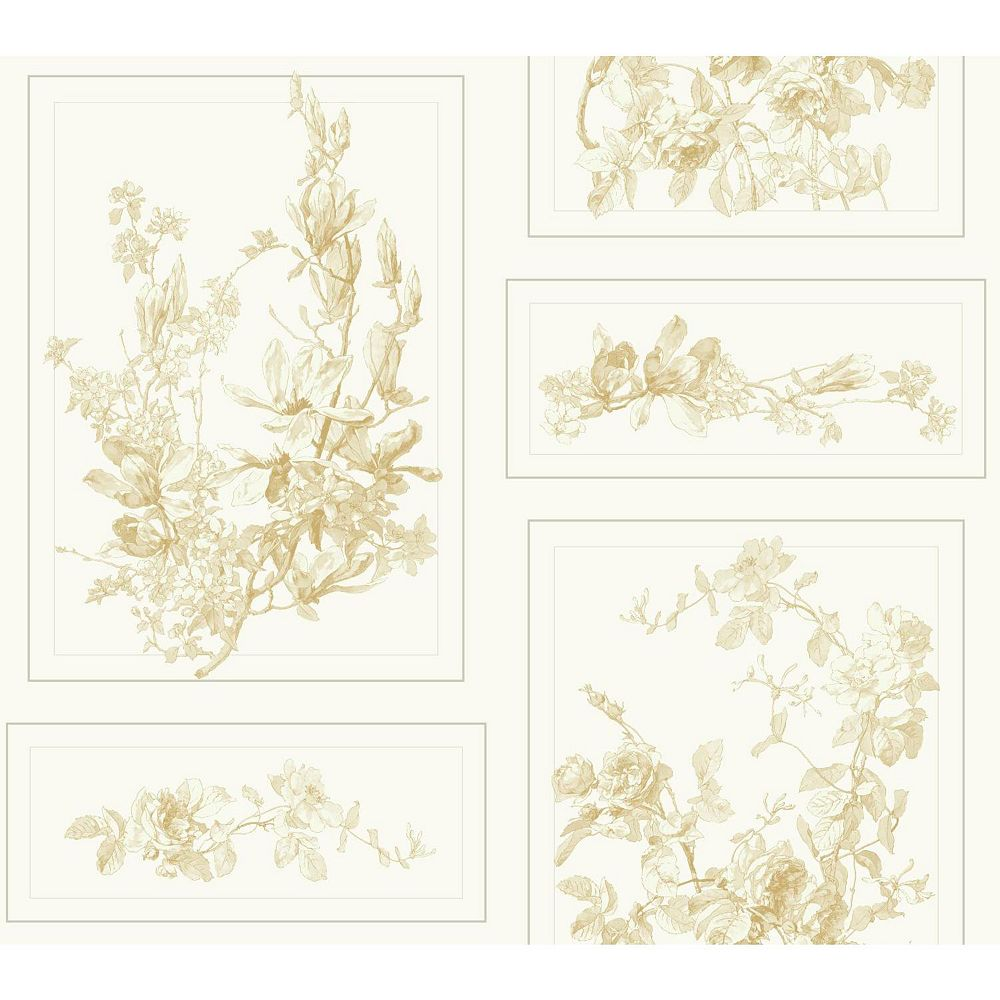 Joanna Gaines Magnolia Home 60 75 Sq Ft The Magnolia Brown White Removable Wallpaper The Home Depot Canada