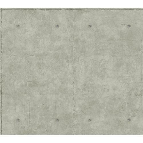 Magnolia Home 60.75 sq. ft Concrete Mid Gray Removable Wallpaper