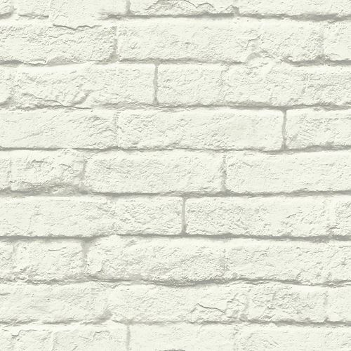 Joanna Gaines Magnolia Home 56 sq. ft Brick-And-Mortar White Removable Wallpaper