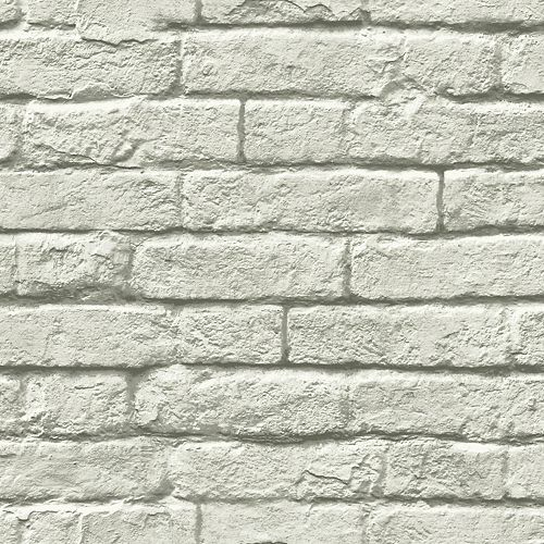 Magnolia Home 56 sq. ft Brick-And-Mortar Gray Removable Wallpaper