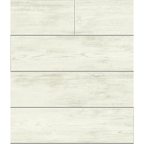 Magnolia Home 56 sq. ft Shiplap Gray Removable Wallpaper