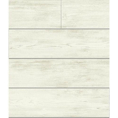 Magnolia Home Planche de Bois  - Gris  - Papier peint amovible