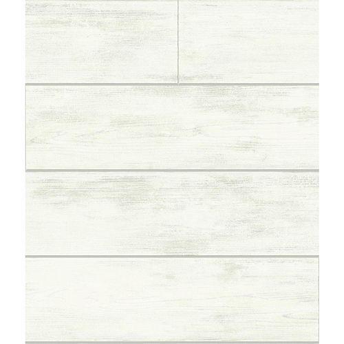 Magnolia Home Planche de Bois - Blanc  - Papier peint amovible