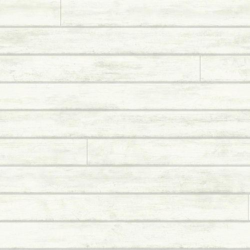 Magnolia Home 56 sq. ft Skinnylap White Removable Wallpaper
