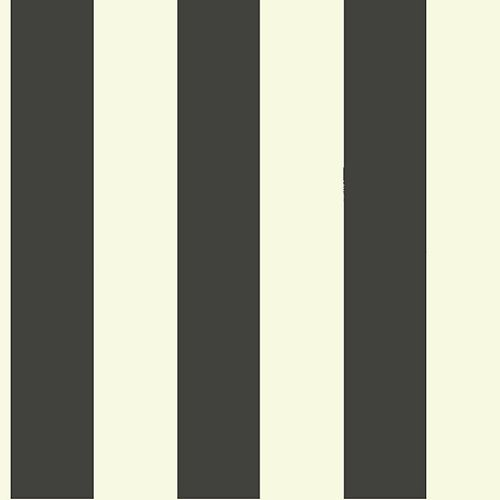 Magnolia Home 56 sq. ft Awning Stripe Black Removable Wallpaper