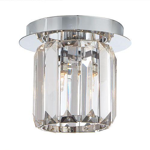 Plafonnier chromé Miette, une ampoule, diffuseur cristallin