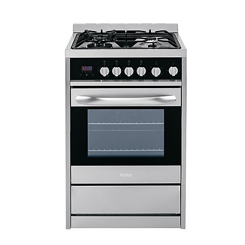 24-inch 2 cu. ft. Single Oven Duel Fuel Range in Stainless Steel