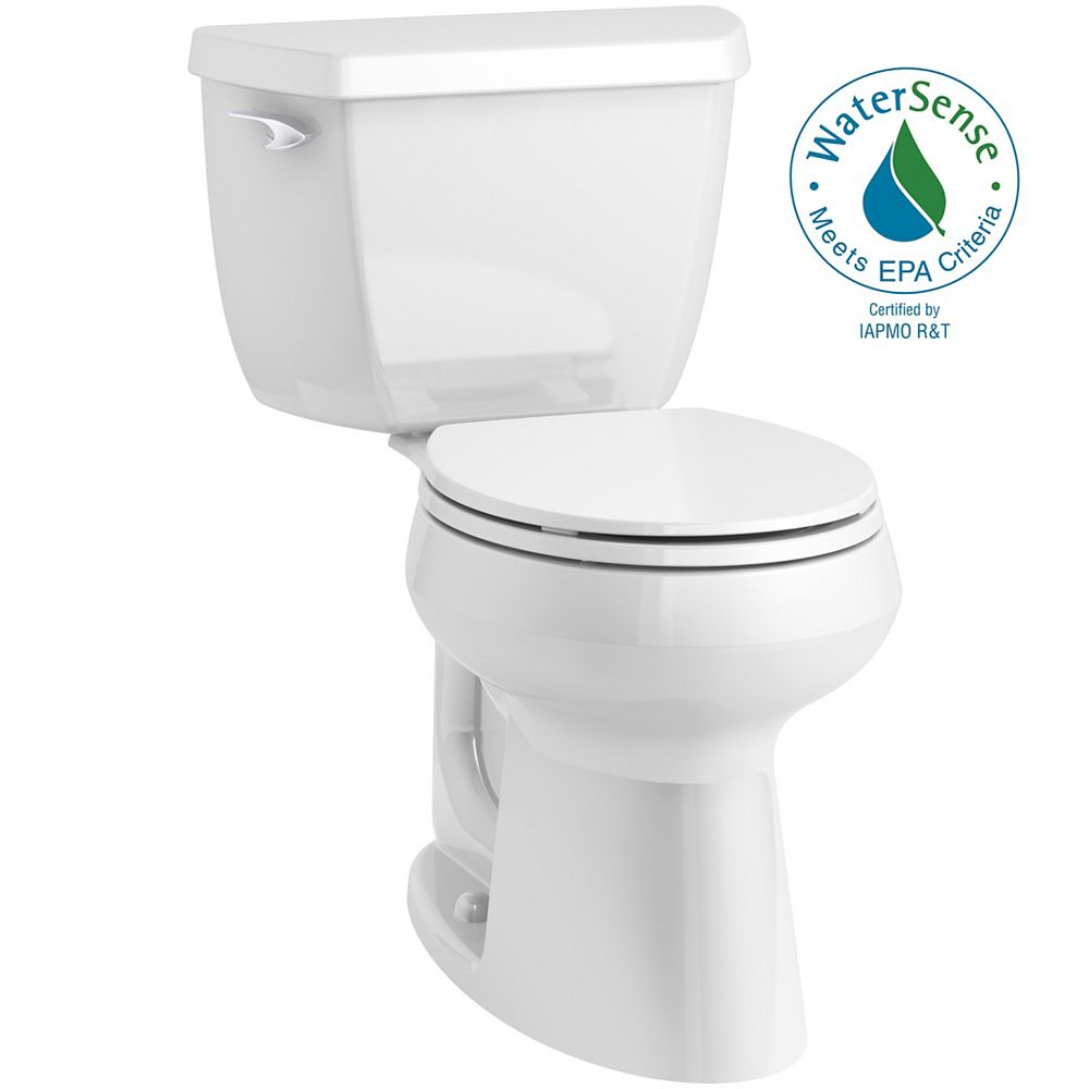 KOHLER Highline Classic Complete Solution 1.28 gpf Comfort Height round-front toilet